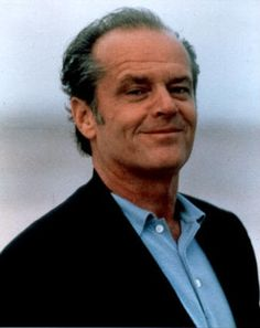 "Jack Nicholson....love him. Love him. Another legend who'd have a zillion stories to tell...What an amazing man. This pix is pined more than any I have. It is just ""young sweetie"". That smile!"