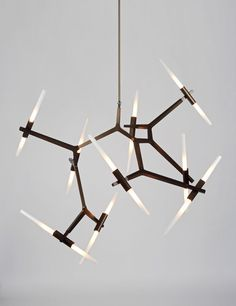 funky and cool vintage inspired light fixture