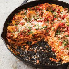 Cast-Iron Sausage Lasagna - Americas test kitchen