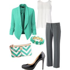 Turquoise Blazer - would be so cute for Easter.