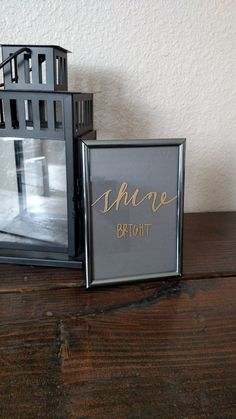 Check out this item in my Etsy shop https://www.etsy.com/listing/281252370/shine-bright-desk-picture-frame