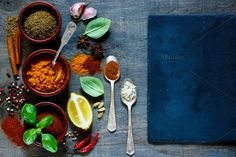 Spices selection by yuliyagontar on @creativemarket