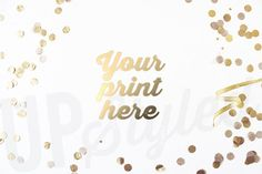 Gold Confetti Styled Photography Mock Up  Stock by UpStyledShop, $15.95