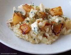 risoto de pera e gorgonzola - FIGOS E FUNGHIS