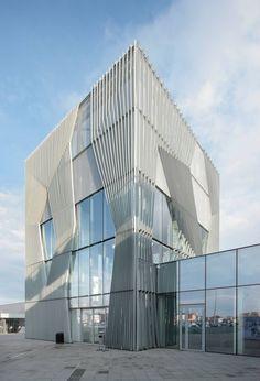 futuristic facade
