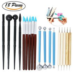 Onshine Sculpting Tools Polymer Clay Tools 18 Pcs Ball St...