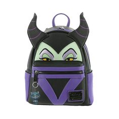 9cd0a2dda88 Loungefly x Maleficent Faux Leather Mini Backpack - Backpacks - Disney -  Brands