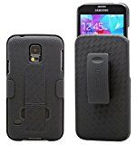 Galaxy S5 Case Aduro COMBO Shell & Holster Case Super Slim Shell Case w/ Built-In Kickstand  Swivel Belt Clip Holster for Samsung Galaxy S5