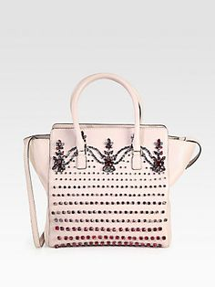 DROOL.......  Valentino Crystal & Leather Tote Bag