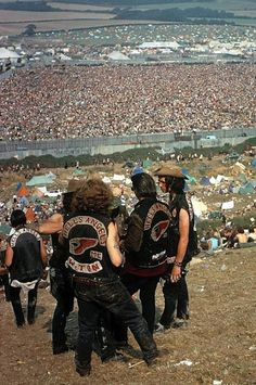 The Hell's Angels at a music festival -1969 - Imgur (Photo source claims image is from Woodstock)