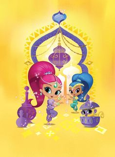 Shimmer and Shine Episodes, Games, Videos on Nick Jr. 4th Birthday Parties, Baby Birthday, Shimmer And Shine Cake, Fiesta Party, Arabian Nights, Princesas Disney, Disney Junior, Anime, Diy