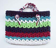 Bag made using T-Shirt Yarn - Great UpCycle!