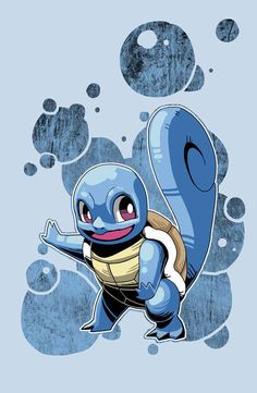 Squirtle, pokemon starters by Wei Jing.