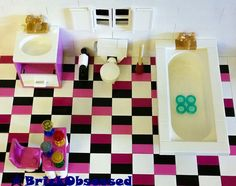 #LEGO Custom Bathroom Set! BATHTUB SINK TOILET MORE! #LEGOFurniture #LEGOBathroom #LEGOHouse #LEGOFriends #LEGOBelville #LEGOInterior #LEGOBuilding #LEGOCity #LEGOMOC