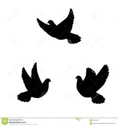 Resultado de imagen de siluetas de palomas en vuelo