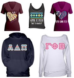 "REVIEW ON THE BLOG: check out my sorority sugar ""sister-to-sister product review"" of premier tier sponsor GreekU.com!!! i closely evaluate their NEW website and adorable greek apparel. if you love to design one-of-a-kind custom shirts for your chapter ~ you will love Greek U! <3  http://sororitysugar.tumblr.com/post/67012640823/sister-to-sister-product-review-greek-u#notes"