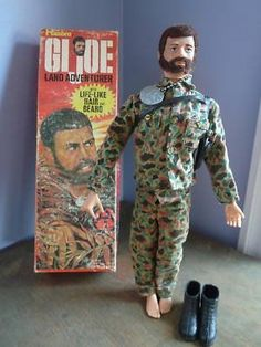 G I Joe - my brother had this and all we did was laugh about it. Looks like a Ron Swanson doll.