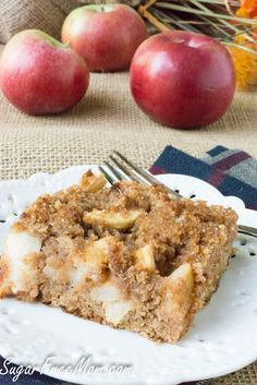 Apple Dump Cake (low carb, keto) | Sugar Free Mom