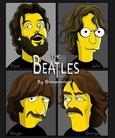 "So strange to see them illustrated - ""Simpsonized!"""