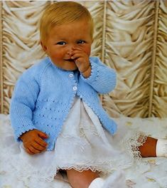 Baby Matinee Jacket / Sweater instructions for 3ply 4ply QK and DK Light Worsted yarns sizes 18 - 19 ins - PDF of Vintage Knitting Pattern YOU WILL RECEIVE: A PDF file (4 pages) of the original enhanced vintage pattern. A PDF file (1 page) Handy Hints and Conversion details. This