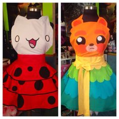 Impossibear & Catbug Inspired Cosplay Dresses/Aprons by SugarNPeas, $160.00
