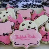 Tickled Pink Baby Shower Cookies by Auntie Bea's Bakery
