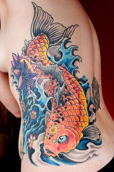 The Koi fish is renown as a symbol of achievement and strength. It is said in Chinese legends that if the Koi could make it past a point called Dragon Gate. Koi fish tattoos symbolize your desire to achieve desired goals.