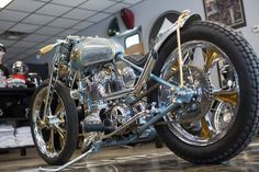 Brooklyn invitational... Is this a beauty or what? - More at Choppertown.com Triumph Bobber, Triumph Bikes, Bobber Motorcycle, Custom Motorcycles, Custom Bikes, Cars And Motorcycles, Royal Enfield Bullet, Digger, Dream Garage