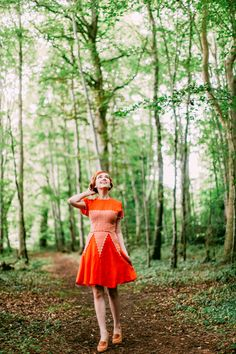that's a LOT of orange, but she can pull it off. | The Clothes Horse: Outfit: Orangsicle