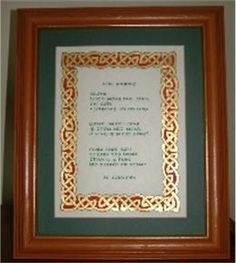 Gold leaf Celtic border Celtic Border, Celtic Images, Gold Leaf, Frame, Projects, Calligraphy, Art, Picture Frame, Log Projects