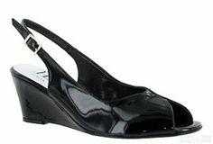 HB Evie Ladies Wedge Heeled Slingback Dress Sandal http://www.robineltshoes.co.uk/store/product/171767/HB-Evie-Ladies-Wedge-Heeled-Slingback-Dress-Sandal/ #ss15 #2015 #RobinEltShoes #shoes #womensshoes #peeptoe #patentshoes #wedges #mediumheel #eveningwear #black