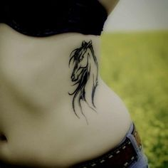 Horse Tattoo Design for Ladies I think this would look cute on my mom!