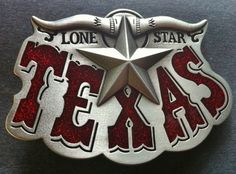 TEXAS STATE WESTERN LONE STAR STEER MEN BELT BUCKLES BOUCLE DE CEINTURE  BELTS dc84da68838