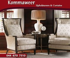 #KommaweerUpholsterers can help give your furniture a new quality look. Contact us on 044 870 7510 for assistance. #Upholstery #services
