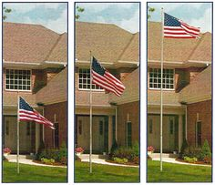 Telescoping flagpoles make it easy to show your patriotic pride. We carry a variety of finishes and heights. Made in the USA!