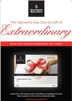 The most exciting gift card you can receive.  Make it a date night, anywhere in the world. #FSDateNight #FSGiftCard