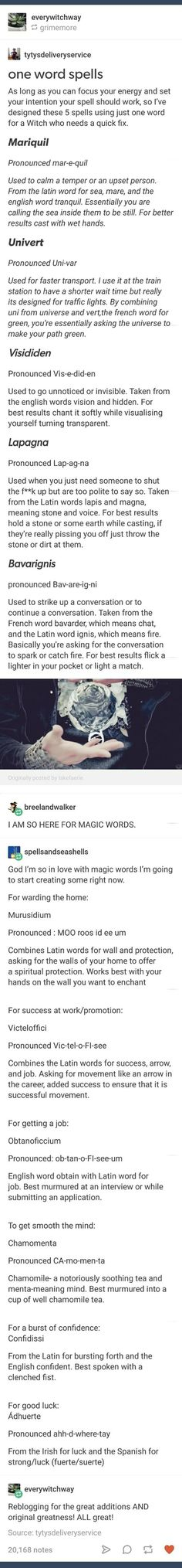 Magic Spells One word spells Magick Spells, Witchcraft, Writing Tips, Writing Prompts, Tarot, Under Your Spell, Witch Spell, Baba Yaga, Modern Witch