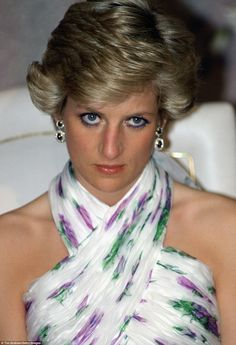 A sombre Diana in Lagos, Nigeria, in March 1990. She and Charles spent a week in West Africa but were barely on speaking terms