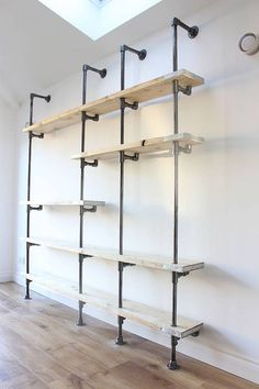 Creative diy pipe shelves design ideas (19)