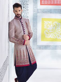 NEW MEN WEDDING INDIAN ETHNIC CUSTOM MADE DESIGNER GROOM SHERWANI INDO WESTERN in Clothing, Shoes & Accessories, Men's Clothing, Suits   eBay