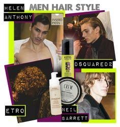 """Men Hair Style: cortes de pelo masculinos según tipo de rostro"" by robanav ❤ liked on Polyvore featuring KMS California, Aveda, men's fashion, menswear, polyvorianpeople and fashiopatia"