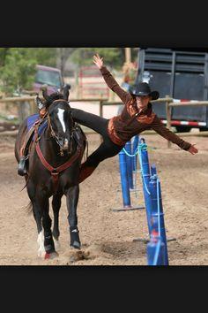 Trick horse riding