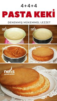Pandispanya Keki Tarifi (videolu) – Nefis Yemek Tarifleri How to make Sponge Cake Recipe (with video)? The description of this recipe in the book of people and the photos of the experimenters are here. Sponge Cake Recipes, Wie Macht Man, Apple Smoothies, Cheesecake Recipes, Healthy Desserts, Pasta Recipes, Food Porn, Yummy Food, Delicious Recipes