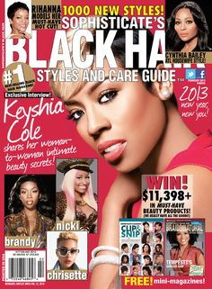 Black Hair February 2013 Back Issue - Keyshia Cole Magazine Cover Black Hair Magazine, Picture Table, Sophisticated Hairstyles, Cynthia Bailey, Hype Hair, Now Magazine, Keyshia Cole, Beauty Guide, Black Love