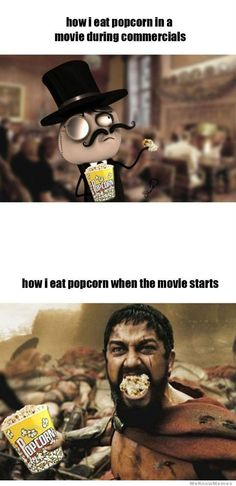 Funny Rage Comics Movie Popcorn Meme