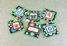 3x3 Blank Notecards   Handmade Mini Note Cards   Mini Gift Tags   Any Occasion Notecard   Blank Mini Greeting Card   Handmade Greeting Cards by TheCardCornerNC on Etsy
