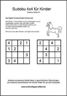 sudoku kinder r228tsel mathe grundschule pinterest