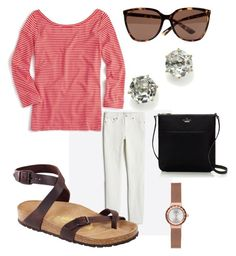 """""""Italy 5"""" by mollyballerina on Polyvore featuring J.Crew, Birkenstock, Ted Baker, Ippolita, Kate Spade, Skagen and plus size clothing"""