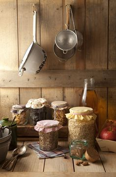 I love the idea of displaying dry pantry ingredients just like this! So rustic... | Cook Me Tender
