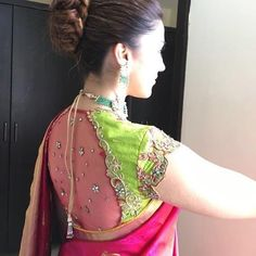 Latest pattu saree blouse designs to try in 2019 blouse patterns for silk sarees latest pattu saree blouse designs to try in 2019 blouse patterns for silk sarees bling sparkle. Blouse Back Neck Designs, Pattu Saree Blouse Designs, Stylish Blouse Design, Fancy Blouse Designs, Bridal Blouse Designs, Pattern Blouses For Sarees, Latest Saree Blouse Designs, Latest Blouse Patterns, Traditional Blouse Designs